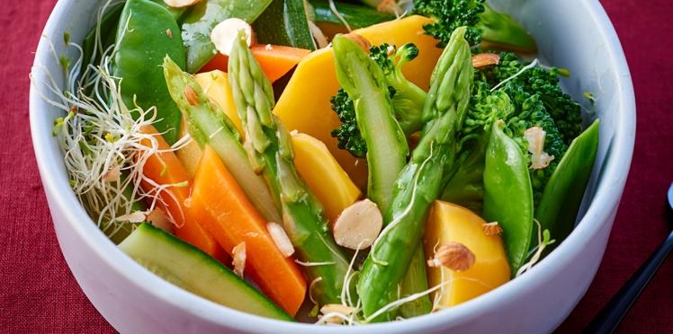 Légumes d'hiver, sauce verte