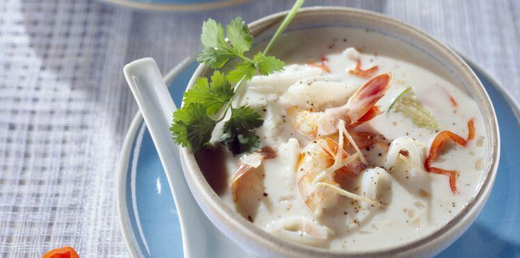 Soupe thaï de poisson