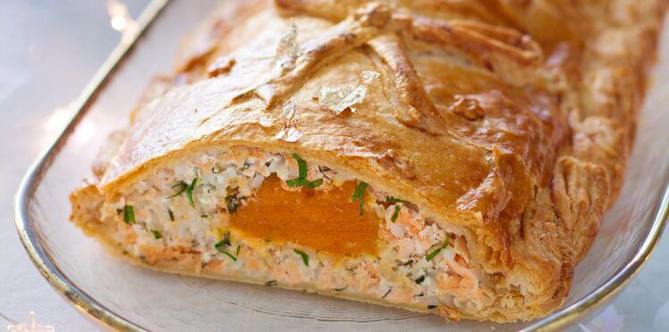 Koulibiac de saumon cœur d'abricot
