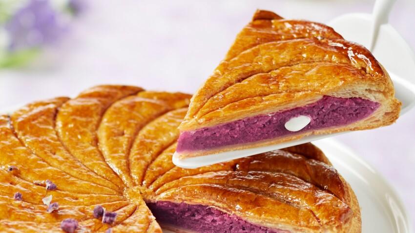 Galette à la crème violette et amande