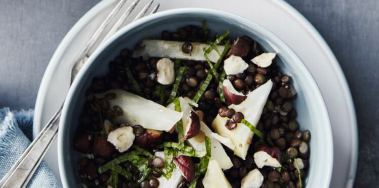 Salade de lentilles au cantal