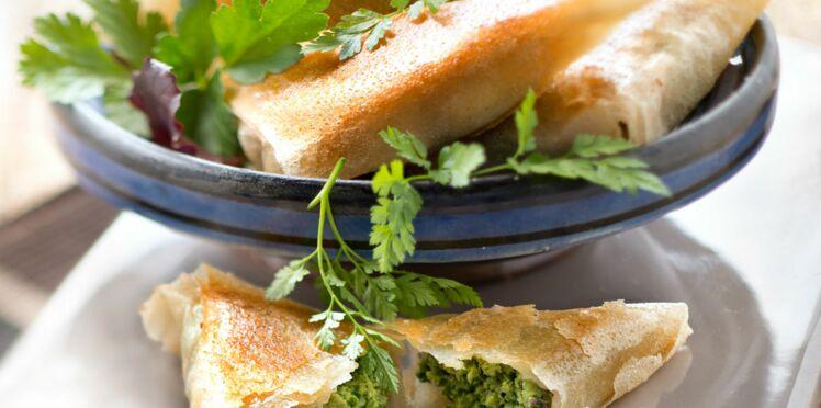 Samossas aux épinards et persil