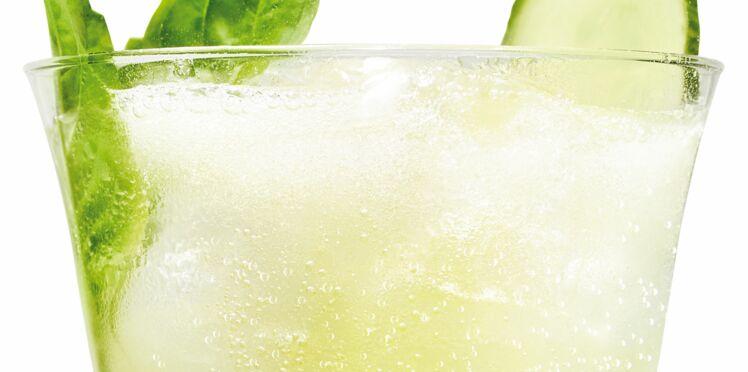 Cocktail Cointreau fizz concombre