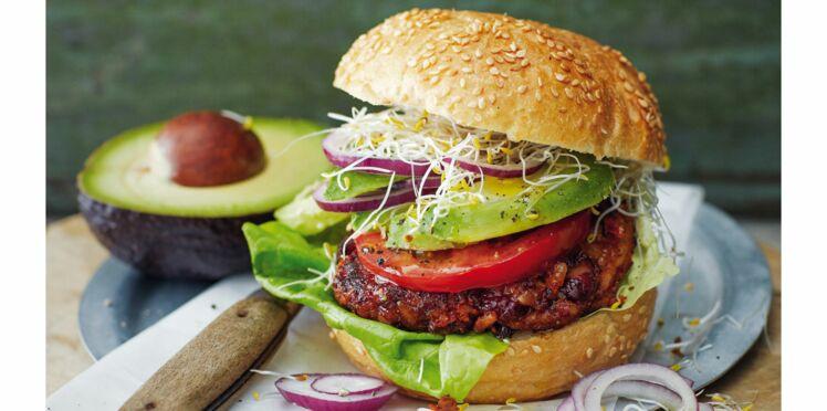 Burger vegan de haricots rouges au piment