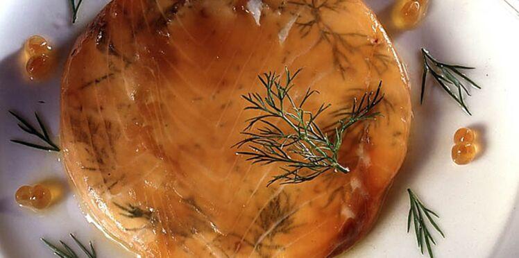 Saumon en gelée aux pointes d'asperges