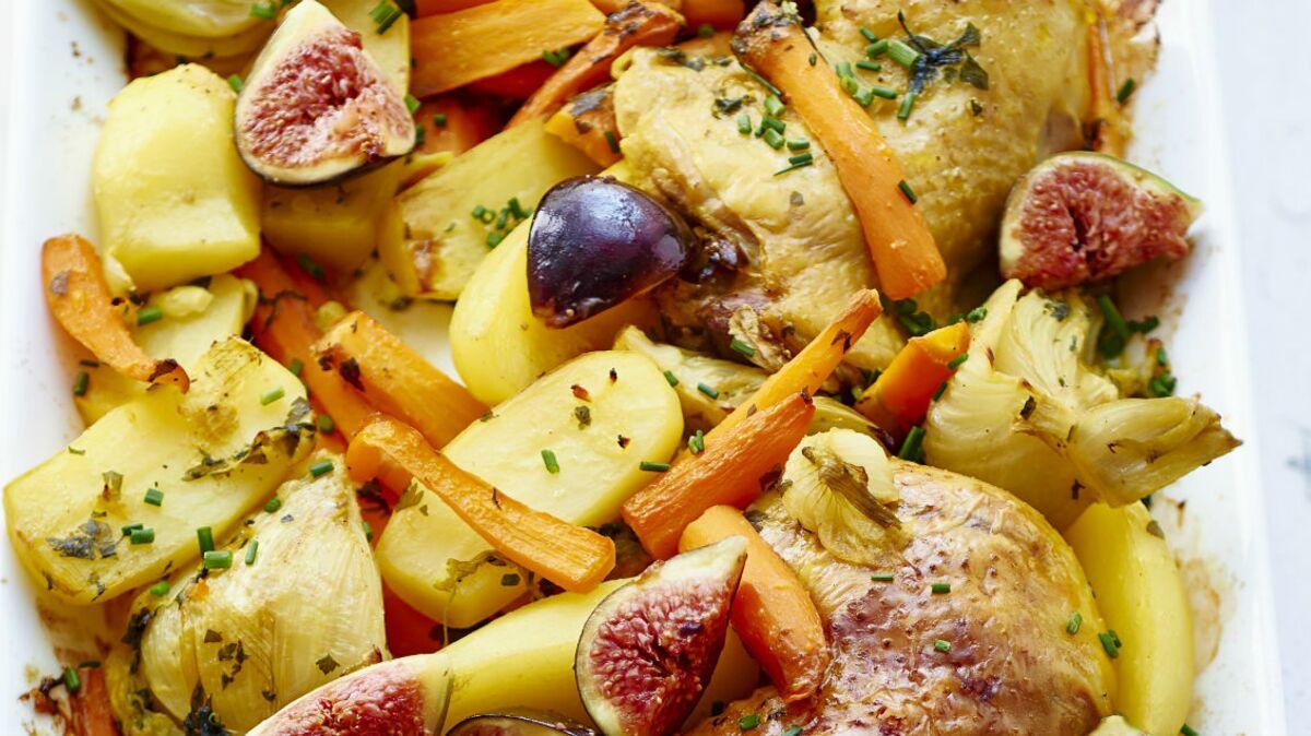 Cuisses de poulet et pommes de terre au four