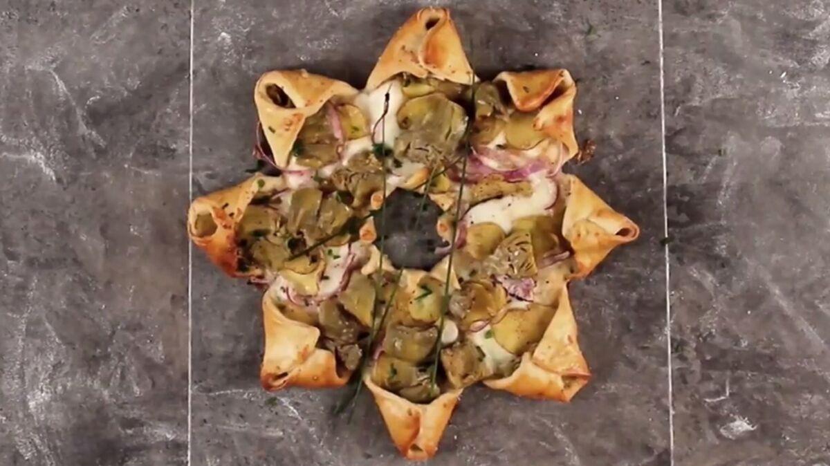 Pizza soleil végétarienne