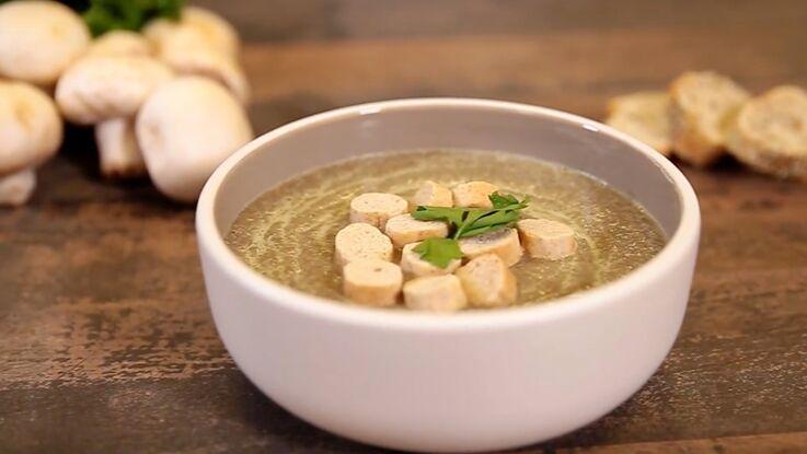 VIDEO : la soupe aux champignons et curry