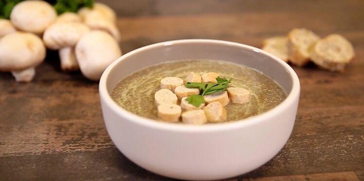 Soupe de champignons au curry
