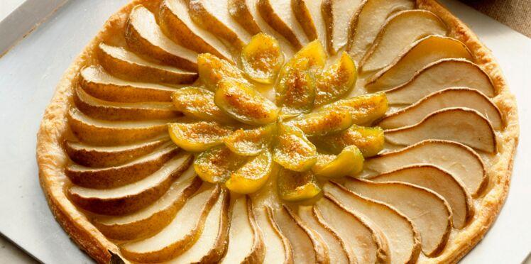 Tarte aux poires et aux figues caramélisées