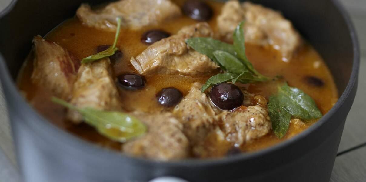 Ragoût de veau aux olives