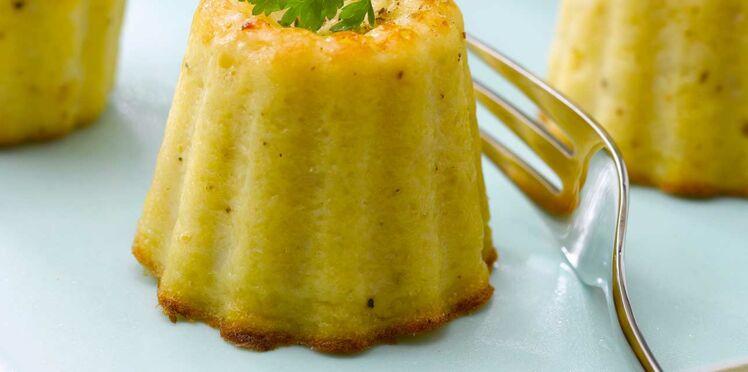 Cannelés de chou fleur au parmesan et curcuma