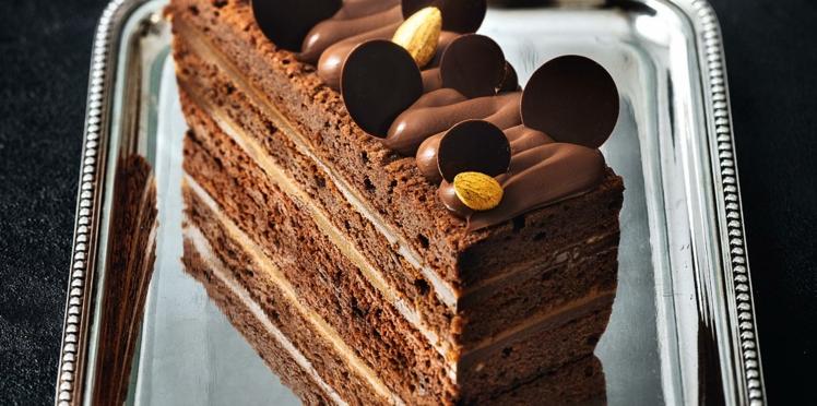 Cake duo chocolat caramel exotique de Nicolas Bernardé