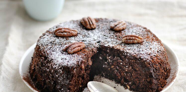 Chocolatine : gateau chocolat noix de pécan au micro ondes de Tupperware