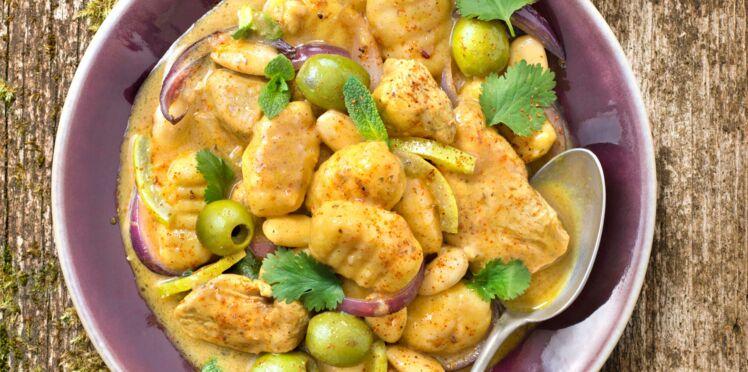 Poulet aux amandes et aux olives