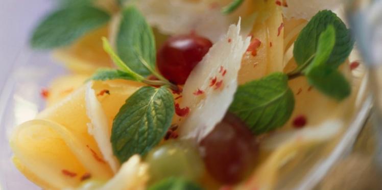 Carpaccio de melon au poivre