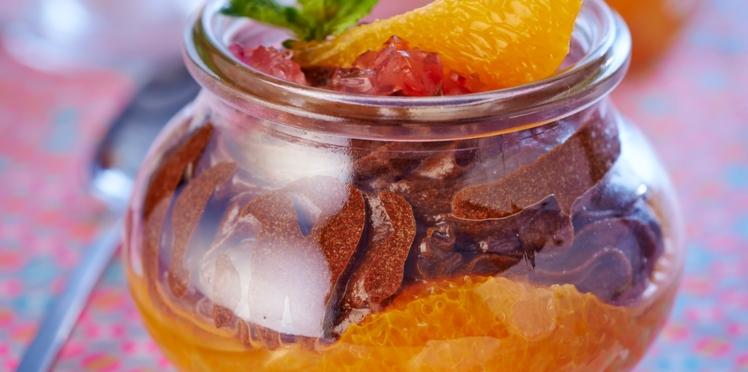 Mousse au chocolat à la gelée d'orange