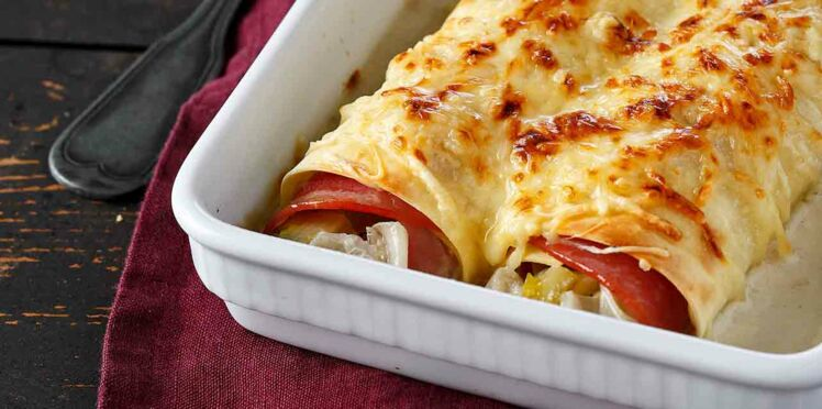 Cannellonis aux endives et jambon
