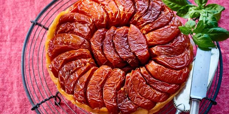 Tatin de tomates confites et salade de fenouil