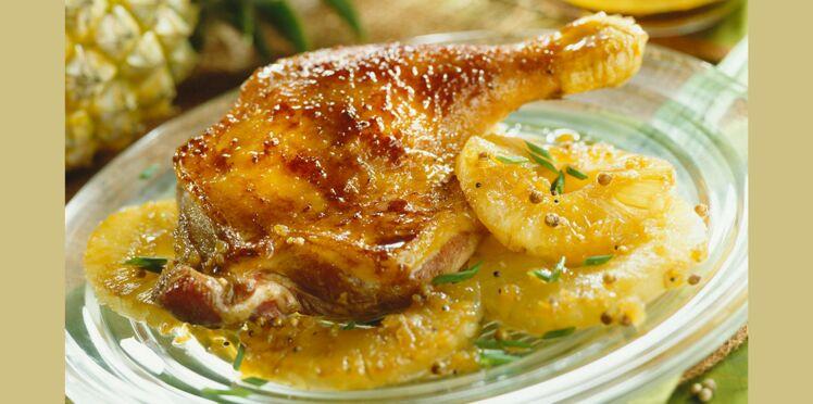 Cuisses de canard sauce à l'orange
