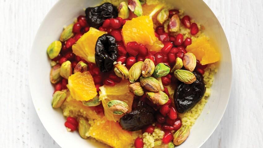 Power bowl couscous, grenades et pistaches