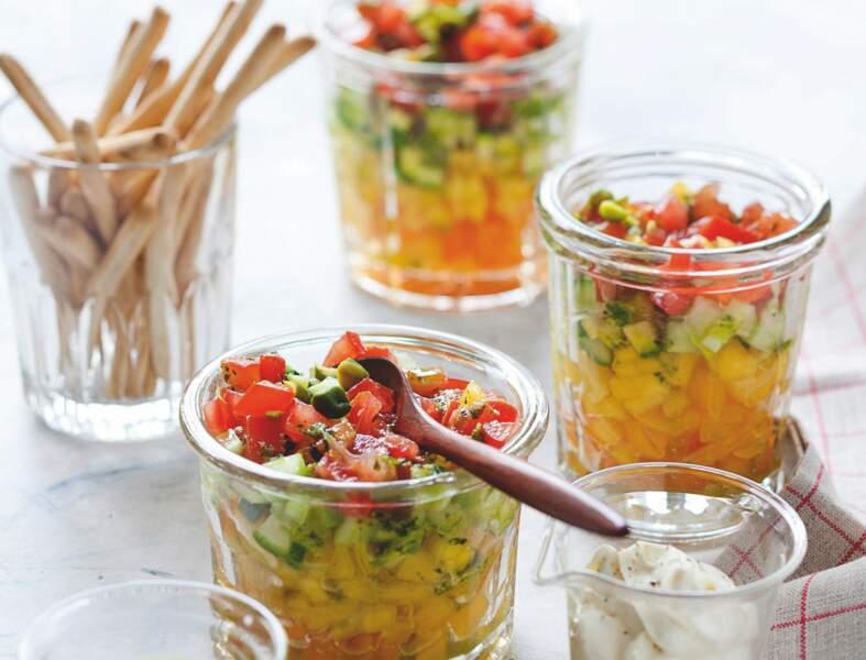 Tartare de légumes et pesto de pistaches