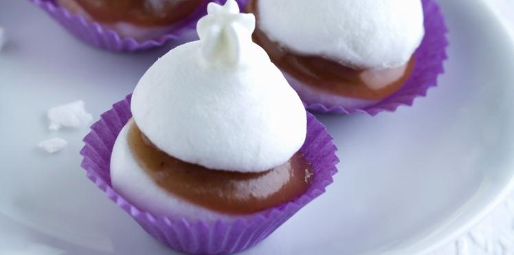 Mini meringues à la crème de marron