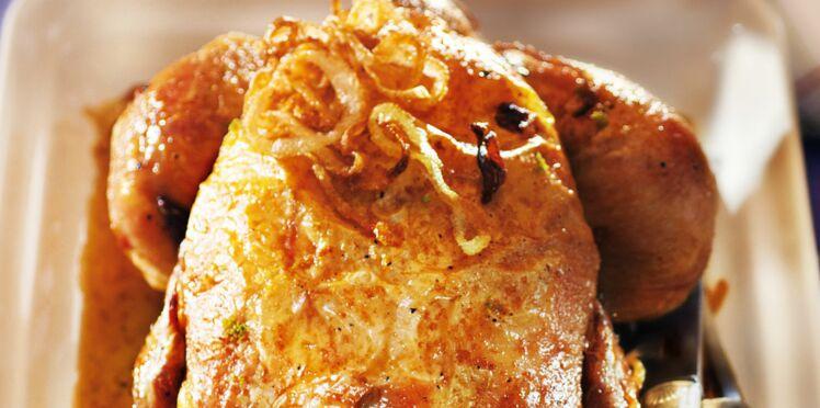 Poulet rôti au four au combava