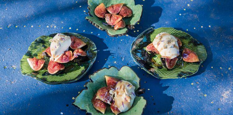Figues rôties au miel et glace à la brousse de Jeanne Bayol