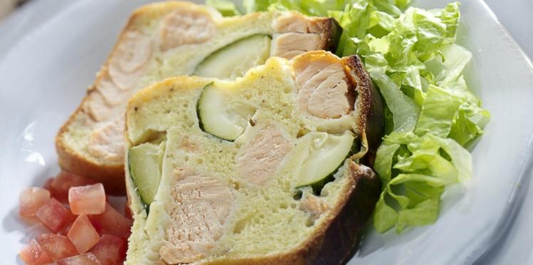 Cake au saumon et courgettes