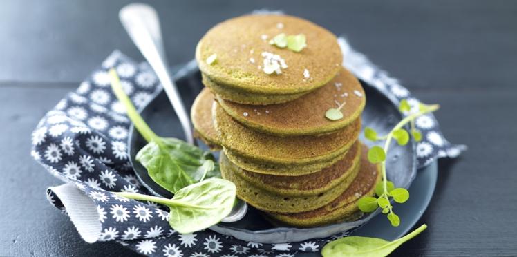 Pancakes d'épinards tout verts