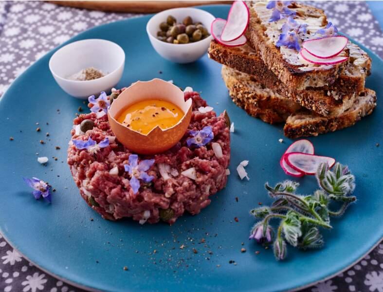 Tartare de bœuf à la plante huître