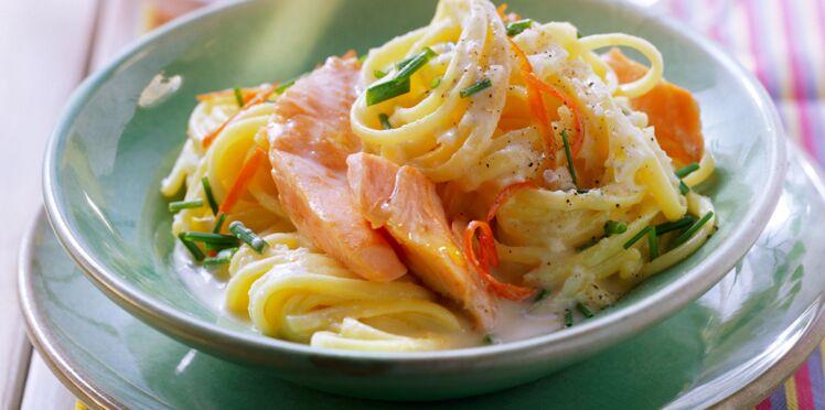 Linguine au saumon et parfum de citron