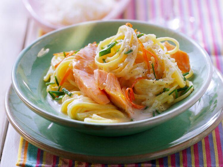 Linguine au saumon et parfum de citron d couvrez les - Recettes de cuisine femme actuelle ...