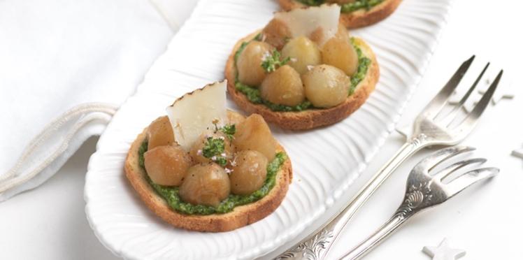 Tartelettes aux oignons grelots confits