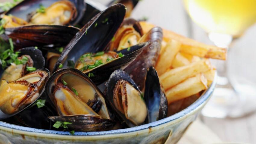 Moules marinières et leurs frites