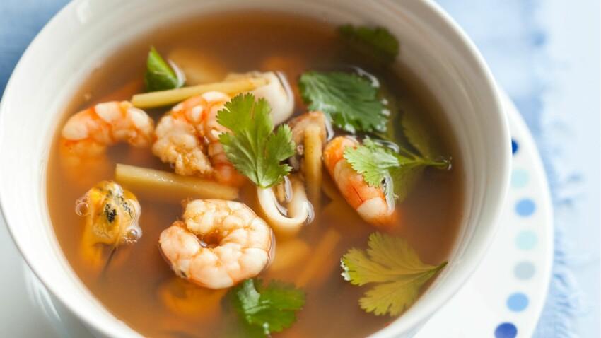 Soupe Tom Yum aux fruits de mer
