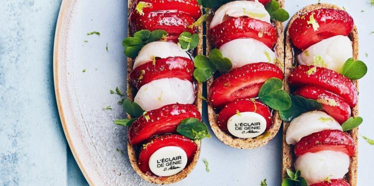 Barlettes fraise, litchi