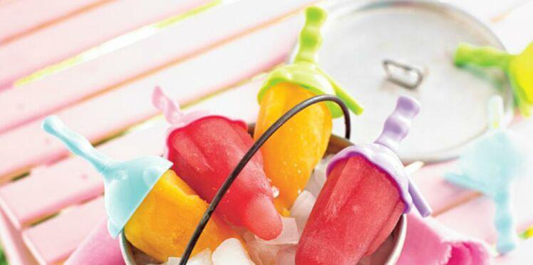 Sucettes glaçées aux fruits frais