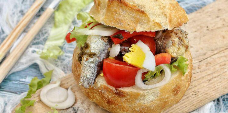 Pan bagnat aux sardines et algues bio
