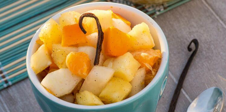 Fruits frais à la vanille