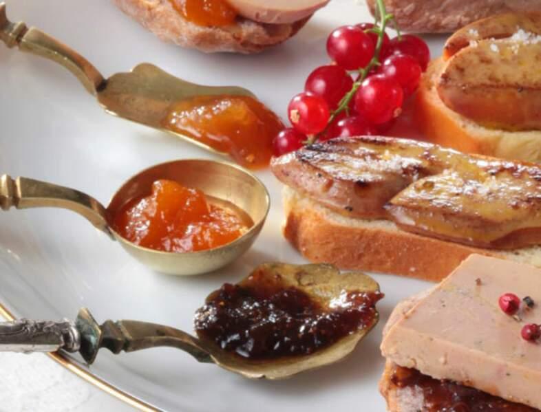 Foie gars poêlé et chutney mangue-passion