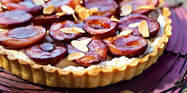 Tarte aux prunes et mascarpone