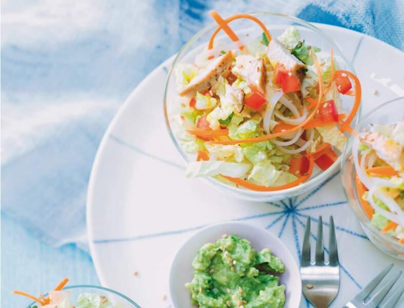 Salade asiatique au wasabi