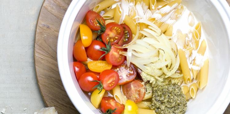One pot pasta tomates cerises et pesto