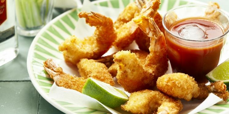 Beignets de crevettes marinées