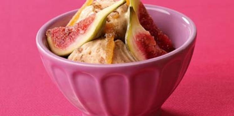 Crème glacée figues, miel et gingembre