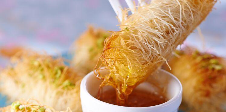 Bouchées de poulet croustillantes, comme des kadaïfs aux pistaches
