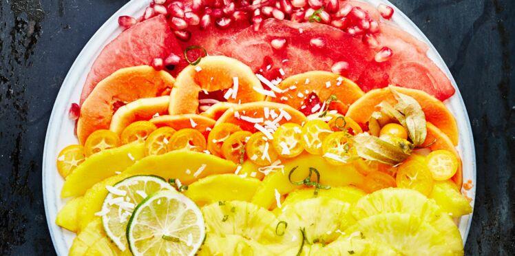 Carpaccio de fruits exotiques