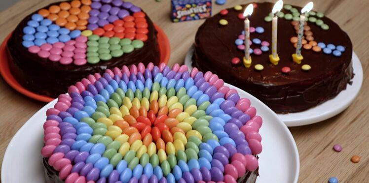 Gâteau d'anniversaire aux smarties